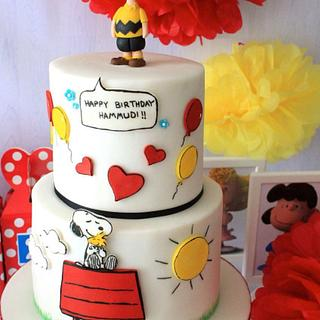 Snoopy/Charlie Brown cake