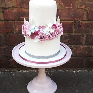 Vintage Romantic 2 Tier Wedding Cake