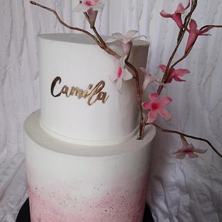 Watercolor  Camila - Cake by Erica Förster