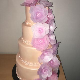Story of my life in weddingcake - Cake by Rianne