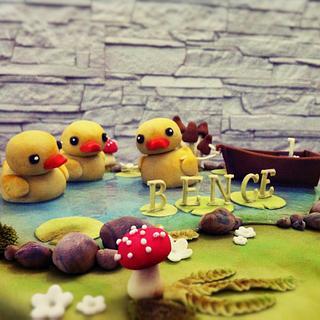 three little ducks - Cake by timea
