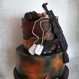Military cake - Cake by Ania - Sweet creations by Ania