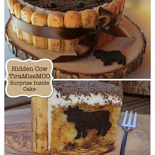 Hidden Cow TiraMissMoo Cake - Cake by Deborah Stauch