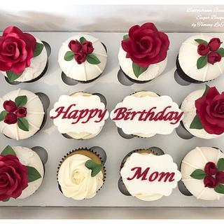 ~ Beautiful Birthday Cupcakes ~