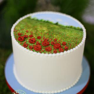 Field of Poppies Cake