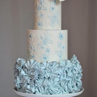 Serenity Ruffle Cake