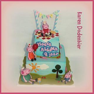 Peppa Pig - Cake by Karen Dodenbier