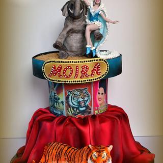 Moira Orfei Italian sugar dream collaboration - Cake by Marzia Caruso cake design lab