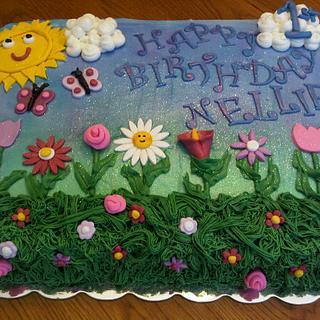 Flower Garden Birthday Cake - Cake by Tammy