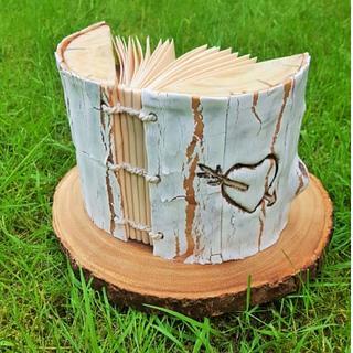 Wedding guest book  cake