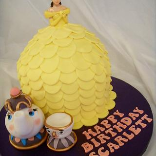 Princess Belle Birthday Cake