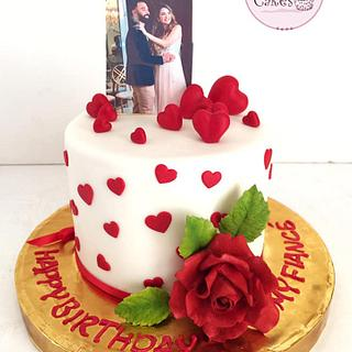 Romantic Lovers Cake