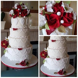 Scarlet Red Rose cake