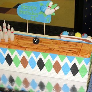 Bowling Lane Birthday cake