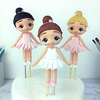 Cute Ballerina Cake Toppers