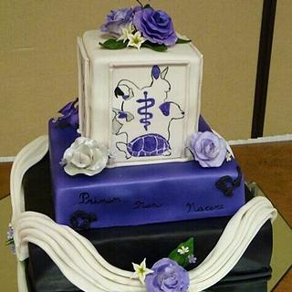 vet tech college graduation cake