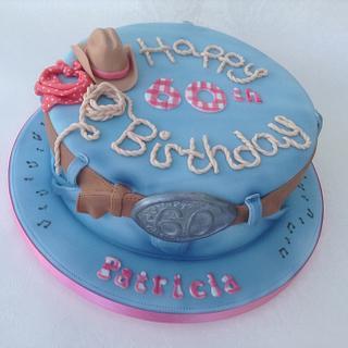 Line dancing birthday cake