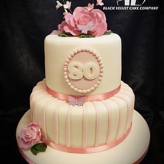 Elegant 80 cake