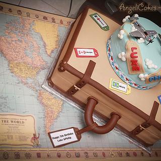 Vintage travel Cake - Cake by Angelica Galindo
