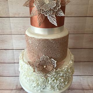 Rose Gold and Lace Wedding