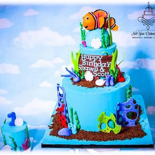 Nemo cake with smash cake