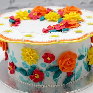 Royal Icing Collar Cake