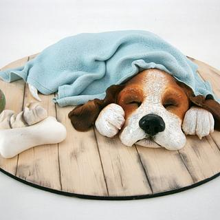 Cachorro Beagle - Cake by Natalia Casaballe
