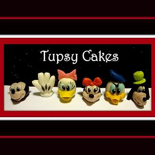 disney  friends  cupcakes toppers