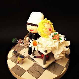 Wedding day in the kitchen 😂😂😂