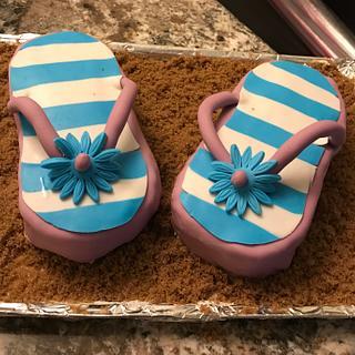 Flip flop cake - Cake by Daria