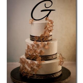 On Wings of Gold - Cake by Jan Dunlevy