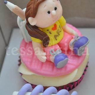 """I Love Art"" cupcake - Cake by tessatinacakes"