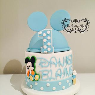 Baby Mickey M - Cake by Edelcita Griffin (The Pretty Nifty)