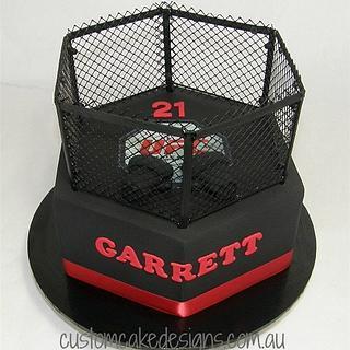 UFC Fighter Cage Cake