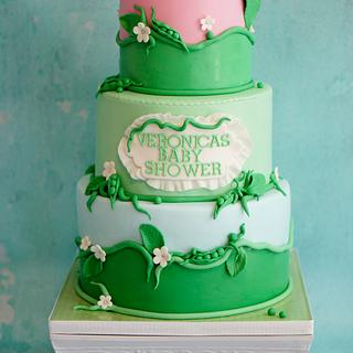 Two Peas In A Pod Baby Shower Cake - Cake by Bliss Pastry