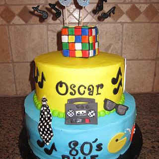 80's themed cake - Cake by vkylyn