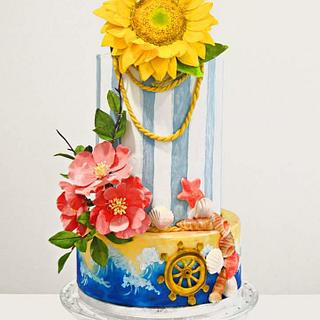 Sweet Summer wedding cake