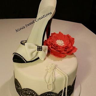Gumpaste-Fondant Shoe Cake
