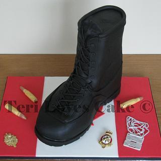 Military Boot Cake