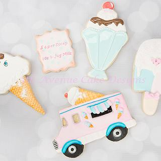 Retro Ice Cream Cookies 🍦🍨🌻