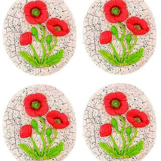 Poppy flower cookies