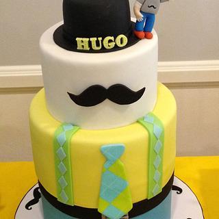 Mustache Little Man - Cake by funni