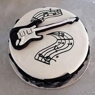 Guitar Topper Cake