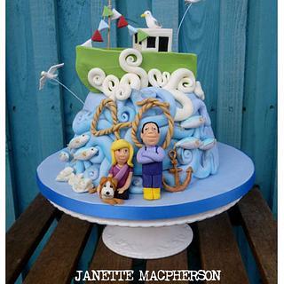 Fishermans 40th Anniversary cake