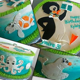 Penguin/Sea Creature Cake