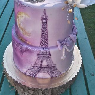 Hand painted Eiffel Tower