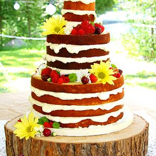 'Bare' Wedding Cake