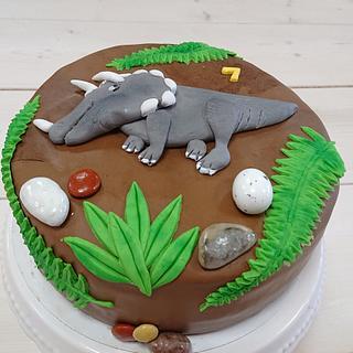 Dino cake 🦕  - Cake by Stertaarten (Star Cakes)