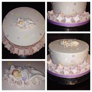 Baby Shower Cake in soft pink!