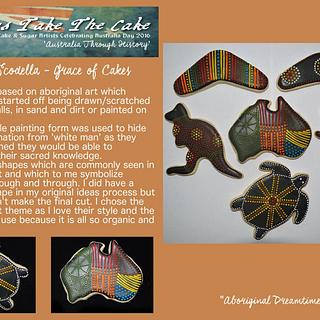 Aussies Take The Cake - Aboriginal Art Cookies